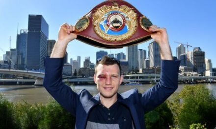 """""""I've climbed Pacquiao mountain."""", says Jeff Horn after winning WBO title"""