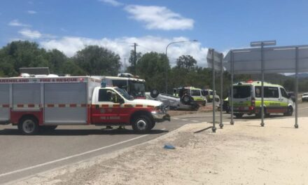 Two-car crash closes Bruce Highway in north Queensland, 11 people taken to hospital