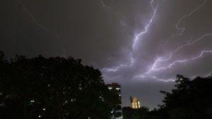 Lightning strikes in India