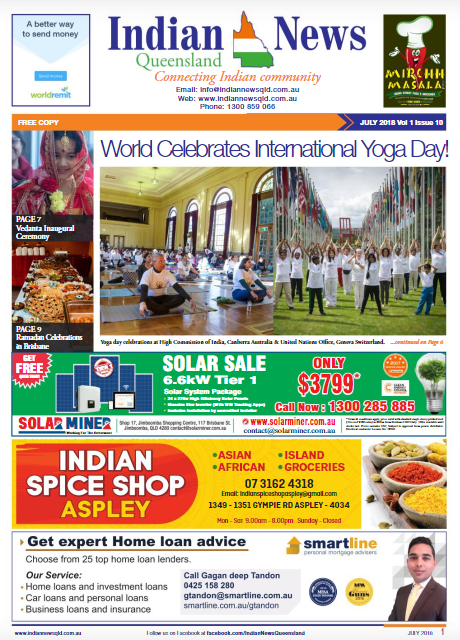 Indian News Queensland – July 2018 Vol 1 Issue 10