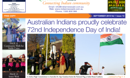 Indian News Queensland – September 2018 Vol 1 Issue 12