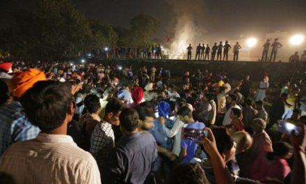 Amritsar: India train mows down crowd killing scores