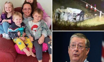 Action Taken At Distressing Crash Site Where four kids Mum killed
