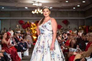 Model wearing Wendy Makin Designs