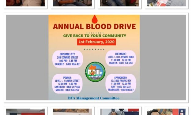 BTA arranges blood donation camp in four Brisbane centres