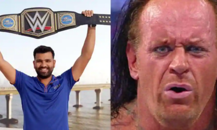 Mumbai Indians pay tribute to The Undertaker, but post picture of Rohit Sharma holding belt