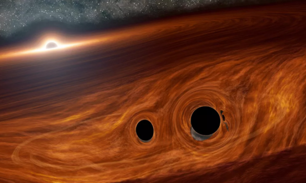 Two black holes collided in deep space. We may have seen it happen for the first time