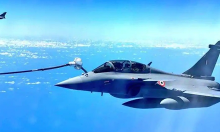 'Shots from 30,000 feet': Pics show Rafales re-fuelling mid-air on way home