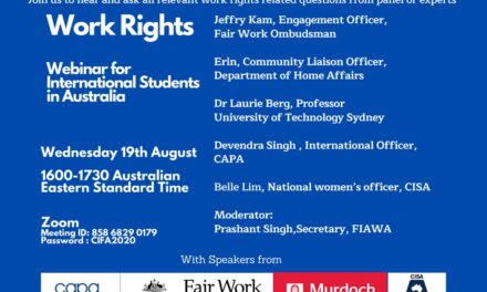 Work Right webinar for International Students in Australia