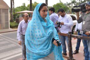 Harsimrat Kaur Badal arrives at Parliament