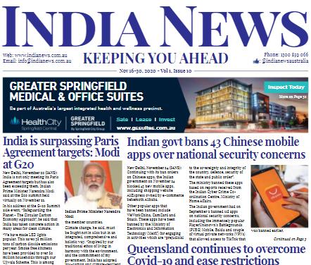 India News – Dec 1-15, 2020, Vol 1 Issue 11