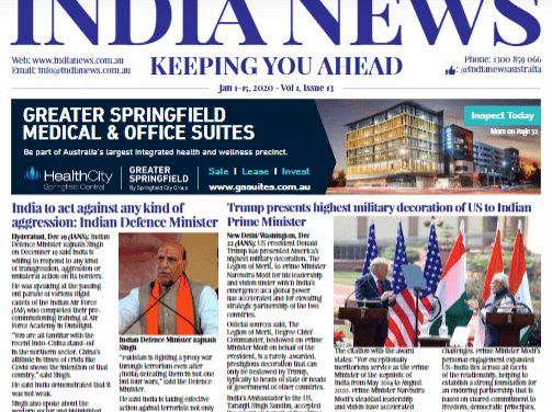 India News – Jan1-15, 2021, Vol 1 Issue 13