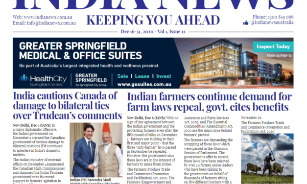 India News – Dec 16-31, 2020, Vol 1 Issue 12