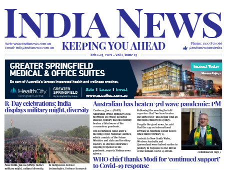 India News – Feb 1-15, 2021, Vol 1 Issue 15