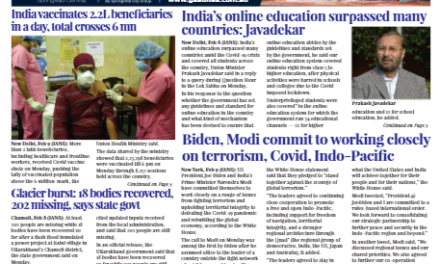 India News – Feb 16-28, 2021, Vol 1 Issue 16