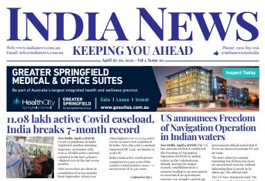 India News – April16-30, 2021, Vol 1 Issue 20