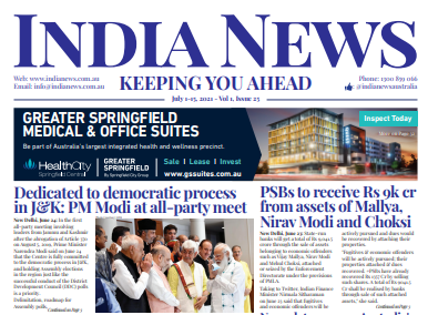 India News – July 1-15, 2021, Vol 1 Issue 25