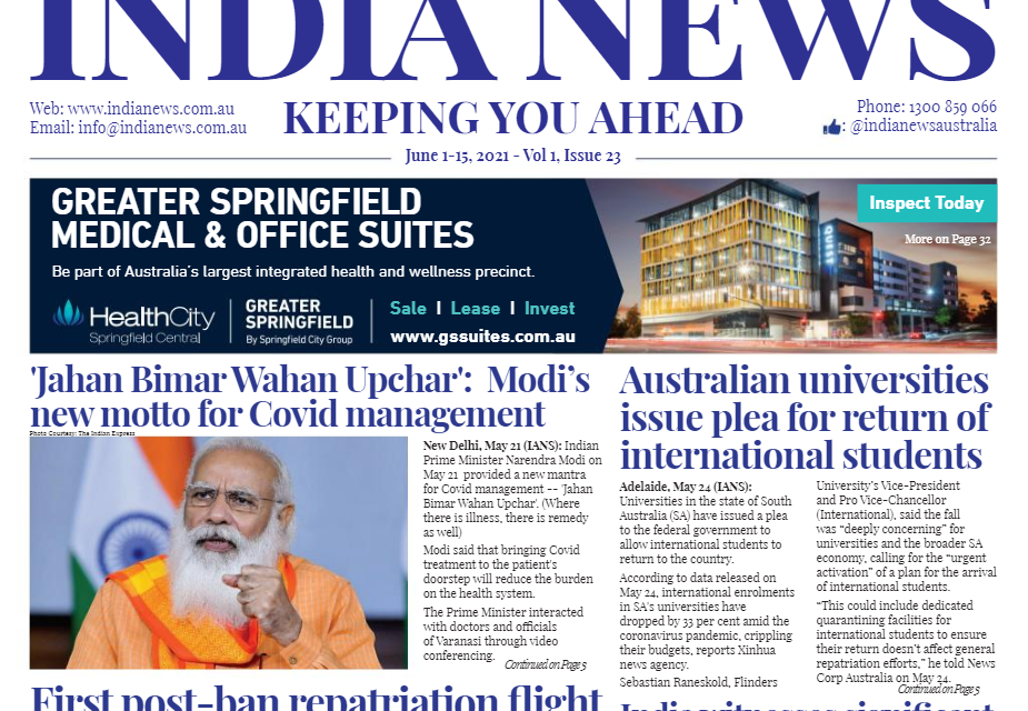 India News – June 1-15, 2021, Vol 1 Issue 23