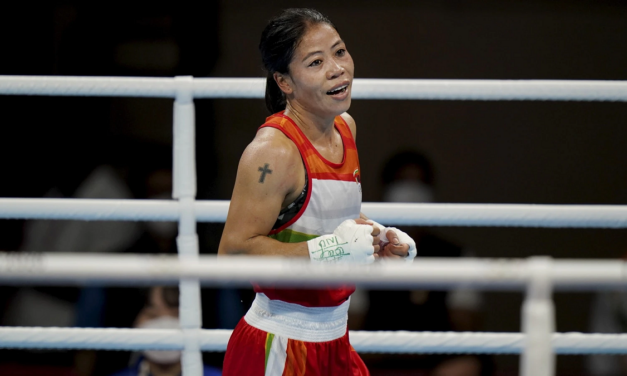 Mary Kom advances to next round in women's 51kg (Ld)