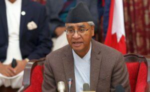 Nepalese Prime Minister Sher Bahadur Deuba