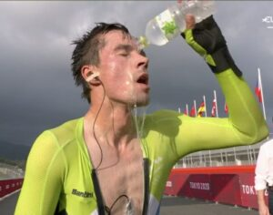 Olympics Slovenian wins men's cycling time trial gold
