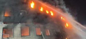massive fire in juice factory in B'desh