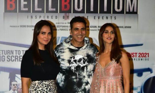Akshay Kumar, Vaani Kapoor leave for Delhi for 'Bell Bottom' trailer launch