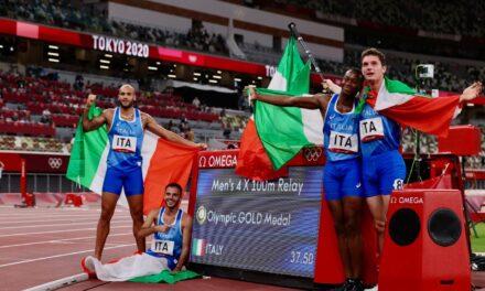 Olympics: Italy claims men's 4x100m relay gold