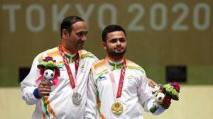Shooter Manish Narwal and shuttler Pramod Bhagat won gold medals