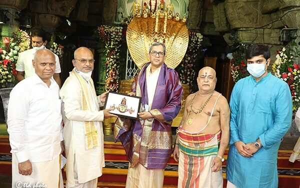 Chief Justice of India offers prayers at Tirumala