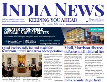India News – October 1-15, 2021, Vol 2 Issue 7